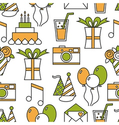 Seamless holiday pattern happy birthday vector