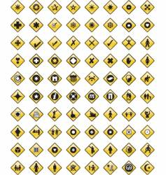 symbol set vector image