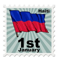 National day of haiti vector