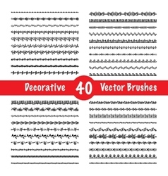 Brush set vector