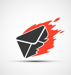 Burning envelope stock vector