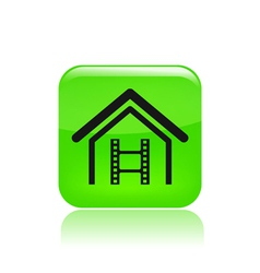 home video icon vector image