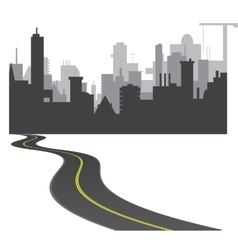 Road to town vector