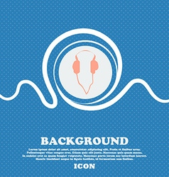 Headphones sign blue and white abstract background vector