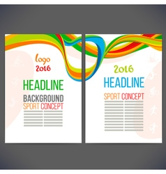 Abstract template design with colored lines and vector image vector image