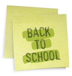 back to school reminder vector image vector image