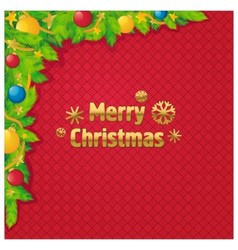 Background Christmas tree decoration vector image