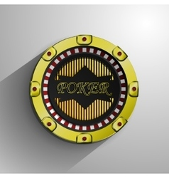 Casino decorative golden coin vector