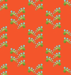 Colored Seamless Floral Pattern in Ethnic Style vector image