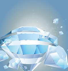 Diamonds template vector image vector image