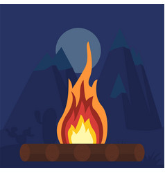 Fire bonfire campfire vector