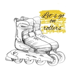 hand drawn roller skate Graphic object for sport vector image