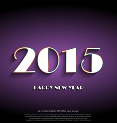 Happy new year 2015 creative greeting card design vector image vector image