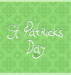 Happy st patricks day banner vector