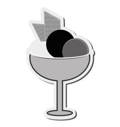ice cream cup icon vector image