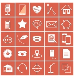 Icons science vector
