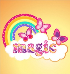 Magic butterflies vector