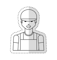 Mechanic avatar character icon vector