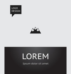 of travel symbol on peak icon vector image vector image