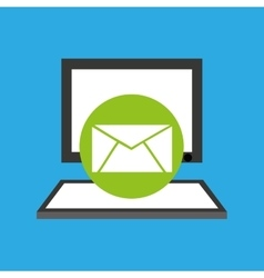 pc device network envelope mail media icon vector image