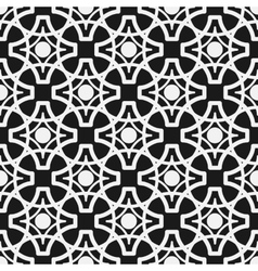 Seamless geometric pattern Monochrome endless vector image vector image