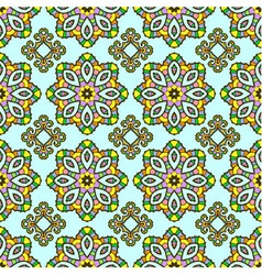 Seamless pattern from abstract element vector image