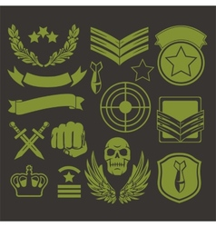 Special unit military patches vector