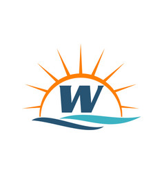 Wave sunset initial w vector