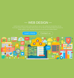 web design flat concept programming apps vector image
