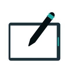 Tablet pen digital technology vector