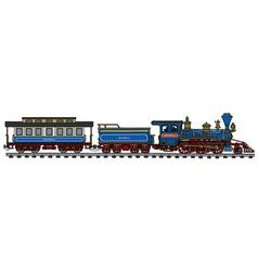 Classic american train vector image