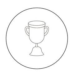 Goblet icon outline single education icon from vector