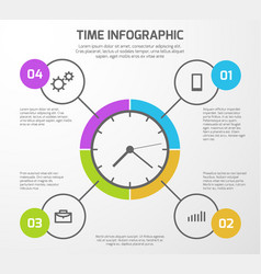 Presentation background with time vector