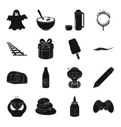 Game magic illness and other web icon in black vector