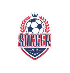 Soccer club team football ball icon vector