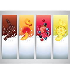 Yogurt banners vector
