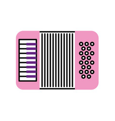 Accordion musical instrument icon vector