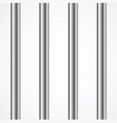 Steel prison or jail bars isolated on white vector