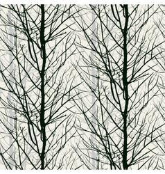 Pattern with trees silhouettes in black vector