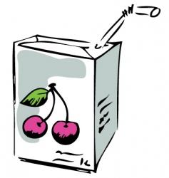 cherry juice vector image
