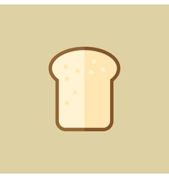 Bread food flat icon vector