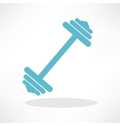 dumbbell weights symbol vector image