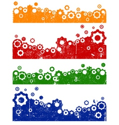 Cog graphic elements vector