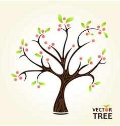 Abstract summer tree vector