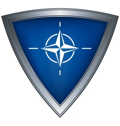 Steel shield with flag nato vector
