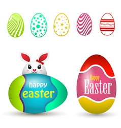 Happy easter eggs easter egg icons vector