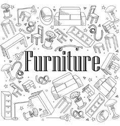 Furniture coloring book vector