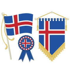 Iceland flags vector