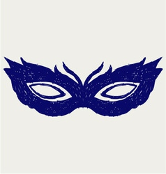 Mask for masquerade costumes vector image