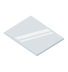 Piece of glass isolated icon design vector